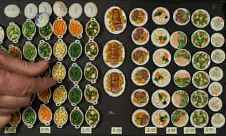 Tiny plates of food