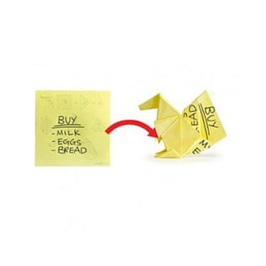 Worst Christmas gifts: Origami Post-it notes