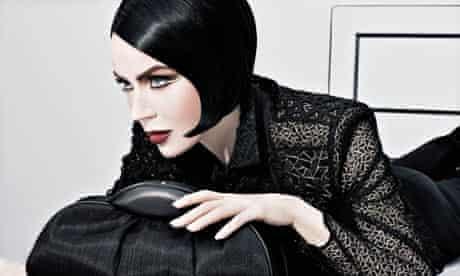 Daphne Guinness models for Akris
