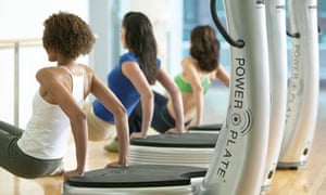 Women exercise on Power Plate machines