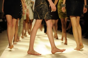 NY fashion week: Thursday: Models with bare feet for Brian Reyes