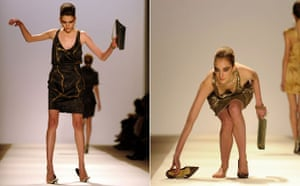NY fashion week: Thursday: Models lose their shoes at the Brian Reyes show