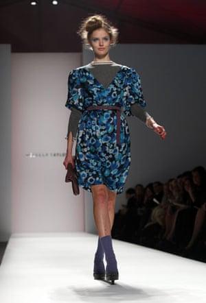 NY fashion week: Thursday: A model wears Rebecca Taylor