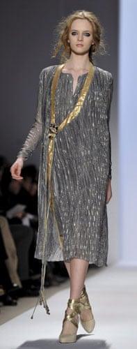 NY fashion week: Thursday: A model wears Ports 1961