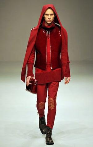 LFW: menswear: A model wears James Long