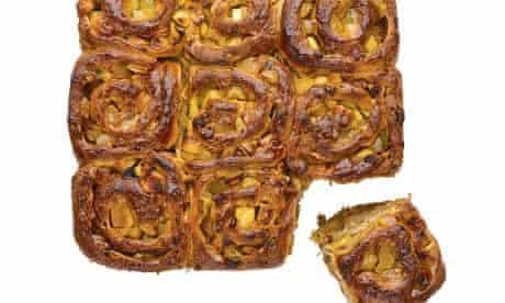 Dan Lepard's sticky toffee apple buns