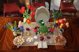 Iranian new year: Nowruz table