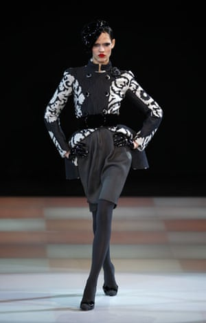 MFW: weekend roundup: A model wears Giorgio Armani