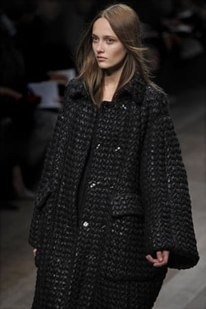 MFW: weekend roundup: A model wears Burberry Prorsum