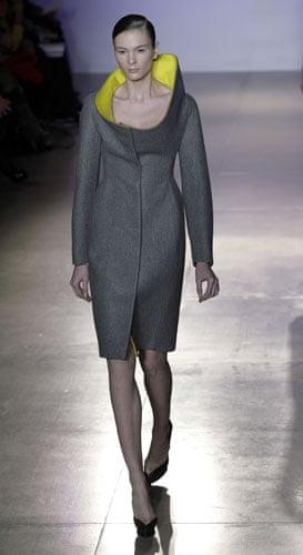 MFW: weekend roundup: A model wears Jil Sander