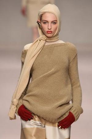 MFW: weekend roundup: A model wears Sportmax