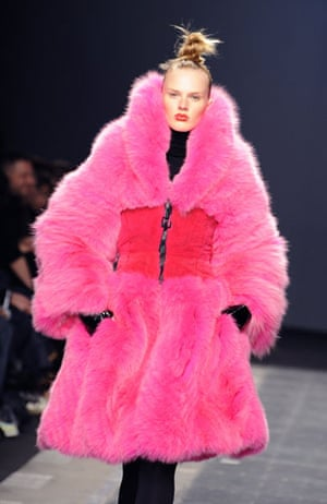 MFW: weekend roundup: A model wears a coat from Iceberg