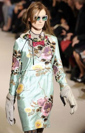 MFW: weekend roundup: A model wears Marni
