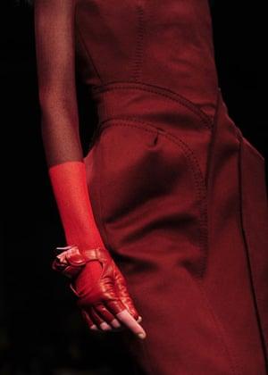 MFW: weekend roundup: A model wears Ferragamo