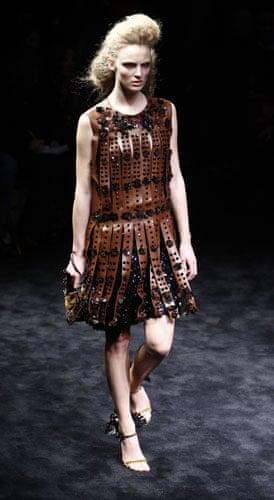 MFW: weekend roundup: A model wears Prada