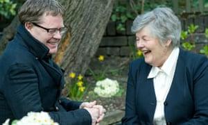 Author James Runcie and his mother Lady Lindy Runcie