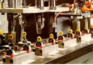 Lego: The Lego figures being made