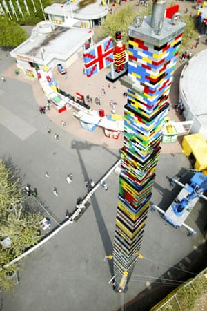 Lego: A Lego tower