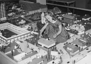 Lego: Child plays with Lego at Selfridges department store in 1962