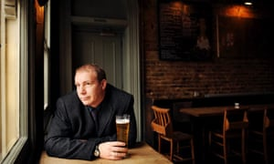 Playwright and director Anthony Neilson in his local pub and 'office'