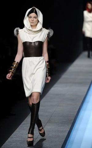 Milan Fashion Week: Model wearing Fendi