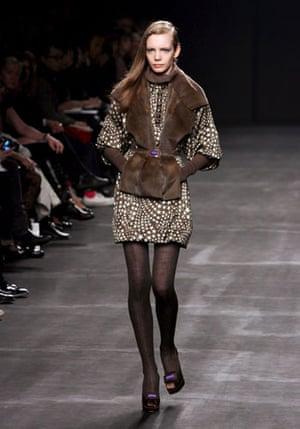 Milan Fashion Week: Model wearing Les Copains
