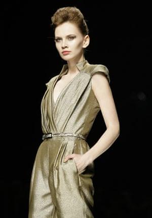 Milan Fashion Week: Model wearing John Richmond