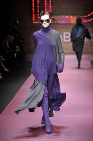 Milan Fashion Week: Model wearing Laura Biagiotti