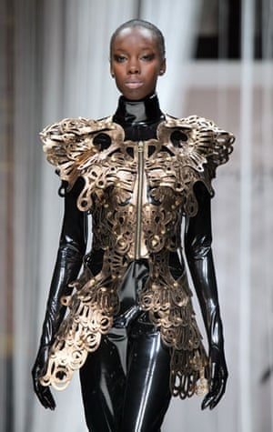 Paris FW Thursday: A model wears Lie Sang Bong