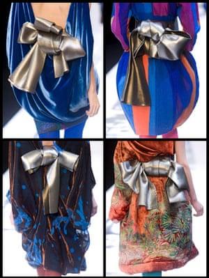 Paris FW Thursday: The bows on the backs of dresses by Hiroko Koshino