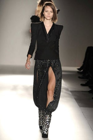 Paris FW Thursday: A model wears Balmain