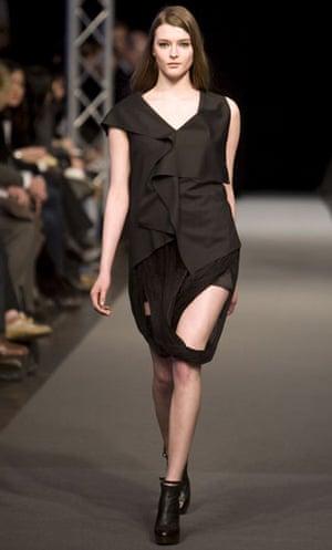 Paris FW Thursday: A model wears Lutz