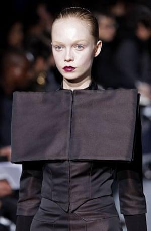 Paris FW Thursday: A model wears Bruno Pieters