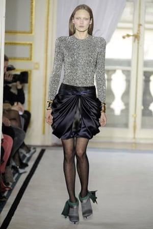 Paris FW Thursday: A model wears Balenciaga
