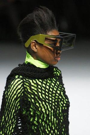 Paris FW Weekend: A model wears Issey Miyake