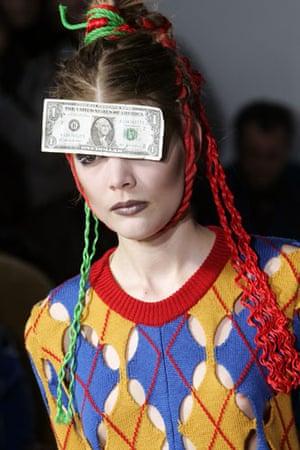 Paris FW Weekend: A model wears Bernhard Willhelm