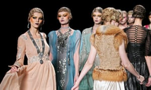 Models wear Christian Dior
