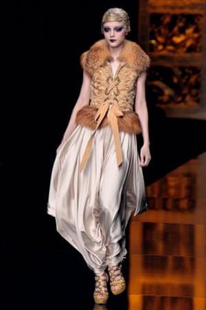 Paris FW Weekend: A model wears Dior