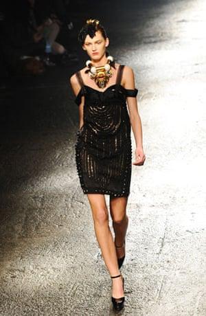 Paris FW Weekend: A model wears Lanvin