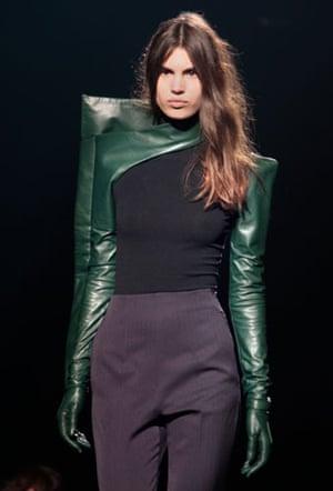 Paris FW Weekend: A model wears Maison Martin Margiela