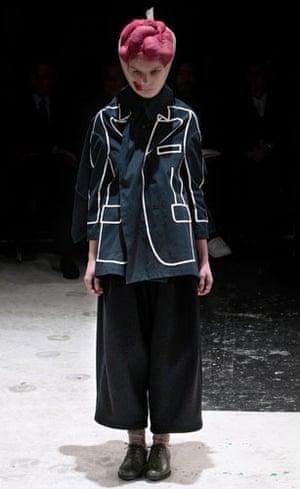 Paris FW Weekend: A model wears Comme des Garcons