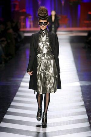Paris FW Weekend: A model wears Jean Paul Gaultier
