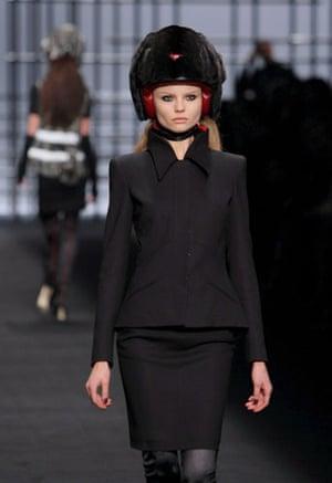 Paris FW Weekend: A  model wears Karl Lagerfeld