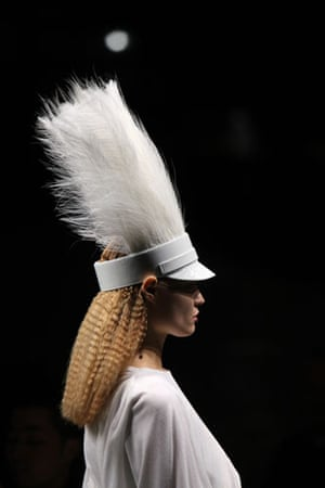 Paris FW Weekend: A model wears Givenchy