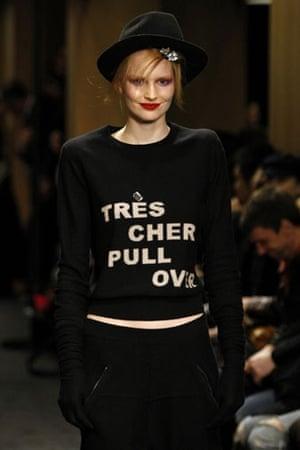 Paris FW Weekend: A model wears Sonia Rykiel