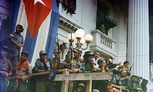 Fidel Castro addresses Cubans on the day the revolution took place in January 1959