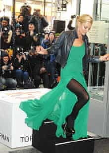 Kate Moss at the Topshop New York opening