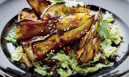 Yotam Ottolenghi's recipie for aubergine with miso