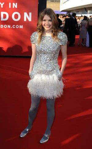 Bafta fashion: Skins' Hannah Murray
