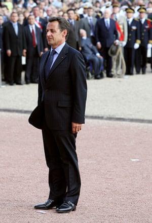 Men who wear stack heels: French president Nicolas Sarkozy.